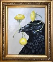 ERIC FAUSNACHT RAVEN & DANDELION  I   20  x 16    $525.
