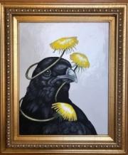 ERIC FAUSNACHT  RAVEN & DANDELION II    20  x 16    $525.