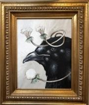 ERIC FAUSNACHT  RAVEN & DANDELION III    13  x 11  $525.