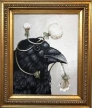 ERIC FAUSNACHT  RAVEN & DANDELION III    20  x 16    $525.