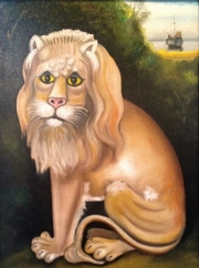 SITTING LION - SOLD