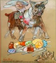 A STRANGE DOG FROM CINCINNATE BRINGS VALENTINE CANDY TO A STRANGE DOG IN CLEVELAND, 2015 - SOLD