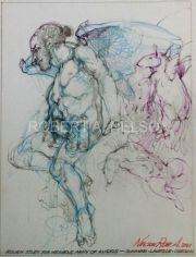 ROUGH STUDY FOR HEAVENS ARMY OF ANGELS, 2011 -SOLD