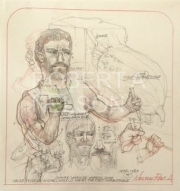 STUDY FOR MICHELANGELO CARVES THE FIRST MARBLE PICKLE, 2009 -SOLD