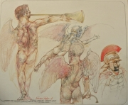 STUDIES FOR GABRIEL (ICARUS?) WAITING FOR A SECOND WING, 2016