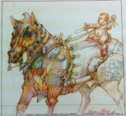 EARLY TRAINING FOR CAVALRY HORSE - SOLD