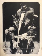 KING CAT AT NIGHT, c. 1970-80 Lithograph - Artist Proof  40 x 30 $3,000.