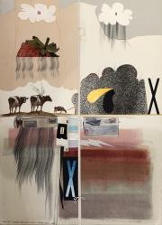 COW #4, 1980 Collage- Pencil, Color Pencil 30 x 22 $2,500.