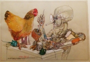 THE VERY SMART TIN WOODMAN REWINDS DOROTHY'S CHICKEN - SOLD