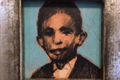 JAMES FEEHAN  STUDY OF A YOUNG BOY  Mixed-media 1.5 x 1.5  $175