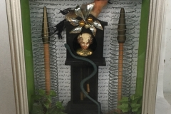 TIM RAY FISHER  OUT OF TIME  Assemblage 11 x 9 x 3  $175