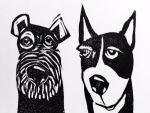 Artie Art Susan Roseman Listen Lino 3 x 4 1/2 $48.