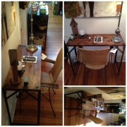 WES NEWSWANGER RECLAIMED WOOD SUPPLY TOP W/ IRON LEGS 260.