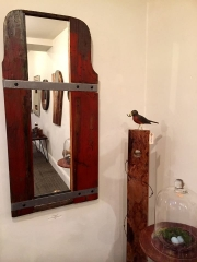 WES NEWSWANGER UPCYCLED GRAIN SEPARATOR/MIRROR 48X23