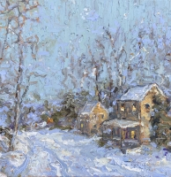 Alan Fetterman |  December Eve |  Oil on linen |  24 x 24 |  $5,800. | SOLD