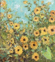 Alan Fetterman |  Flower Field |  Oil on linen |  18 x 16 |  $3,200. | SOLD