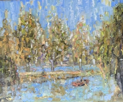 Alan Fetterman |  Summer Rain |  Oil on linen |   16 x 20 |  $3,700.