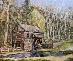 Alan Fetterman |  Water Mill |  Oil on linen |  25 x 30 |  $6,800.