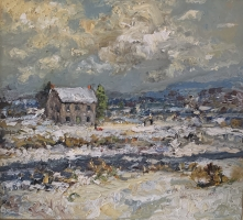 Alan Fetterman |  Winter Wonderland |   Oil on linen |  16 x 18 |  $3,200.
