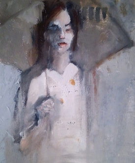 Ann Rudd  |  Tall Girl  |  Oil on paper |  10 x 8  |  SOLD