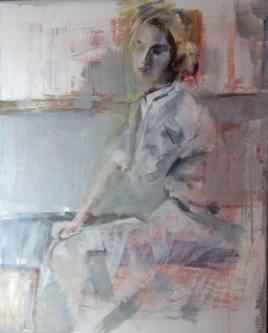 Ann Rudd  |  At the Symphony  |  Oil  on canvas|  20 x 16 |  $400.  (gallery wrapped canvas)