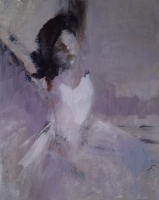 Ann Rudd  |  Dancer  |  Acrylic on paper |  10 x 8  |  $250. (unframed)