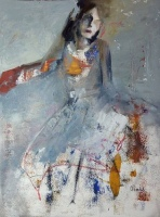 Ann Rudd |  A Certain Lady |  Oil on canvas |  16 x 12 |  $450. (framed) SOLD