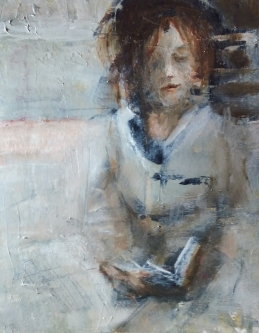 Ann Rudd  |  Traveler |  Oil on paper |  10 x 8 | framed  | $425.