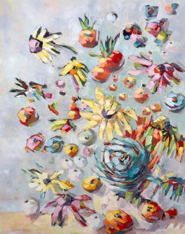 Belinda Bell |  Big in Bloom |   Oil on panel board |  30 x 24|  $1,800. SOLD