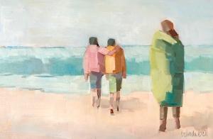 Belinda Bell   Generations of Love  Oil on Panel  8 x 12  $350.