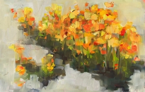 Belinda Bell   Poppies  Oil on Panel  8  x 12  $350.