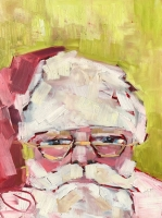 Belinda Bell   St. Nicholas  Oil on Panel  10 x 7.5  $250.