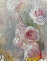 Carl White |  Garden I, 2020 |  Oil, graphite, chalk on board |  10 x 8 20 x 16 f |  $1,200.