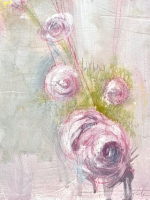 Carl White |  Garden II, 2020 |  Oil, graphite, chalk on board |  10 x 8 20 x 16 f |  $1,200.00