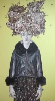 Carlos Gámez de Francisco |  A Windy Day |  Acrylic on canvas |  48 x 27 |  $7,200. SOLD