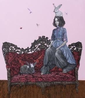 Carlos Gámez de Francisco |  The Royal Rabbit II |  Acrylic on canvas |  32 x 36 |  $6,300.