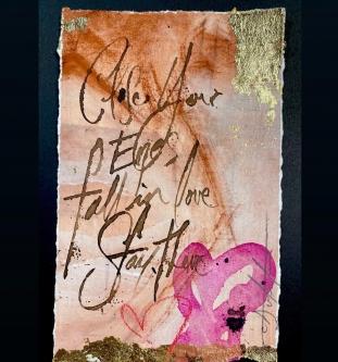 Carl White |   Close your eyes II |   8.5 x 5 |   $175.