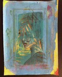 Carl White |   Solstice |   Mixed media on stonehenge paper |  15.5 x 11.5 |   $1,100. SOLD