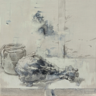 """DALE O. ROBERTS  """"JAR & GOURD""""   Silverpoint and Wash  7.5 x 7.5   $1,300.00 -SOLD"""