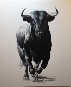David Silvah |  Olé  |  Acrylic on Canvas  |  65 x 54  |  $2250.  SOLD