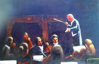 David Silvah |  Orchestra |   Acrylic |  20x 30  |  $900. SOLD