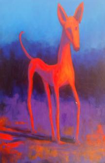 David Silvah |  Dog II  |  Acrylic |  30 x 20  |  $750.  SOLD
