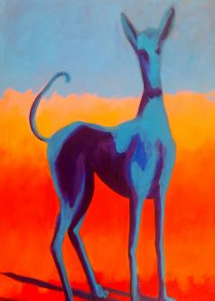 David Silvah |  Dog I |  Acrylic |  30 x 20  |  $750.  SOLD