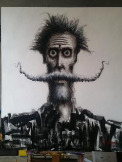 David Silvah |  Quixote Ink |  Acrylic |  63 x 54 |  $3000.  SOLD