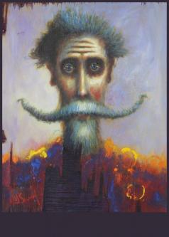 David Silvah |  Cervantes Y Doré |  Acrylic on Wood  |  30 x 24  |  $1200.  SOLD