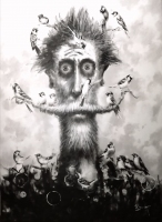 David Silvah    Sing Little Bird, Sing, 2020    Acrylic on Canvas    54 x 40    $2,200.