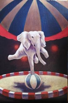 David Silvah |  Solo Show |  Acrylic on lino |  28 x 23 |  $1,000.