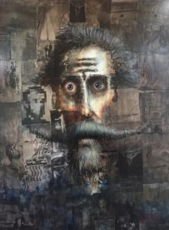 David Silvah |  Cervantes Dali |  Collage- Oil on Canvas |  54 x 40 |  $2400.   SOLD