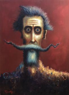 David Silvah |  Quixote Mix |   Acrylic, Color Pencil on Canvas |  60 x 40 |  $2,000. SOLD