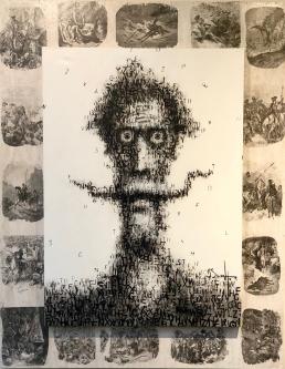 David Silvah |  Quixote  A,B,C |  Transfer on Panel, Acrylic on Canvas |  56 x 48 |  $2,800. SOLD